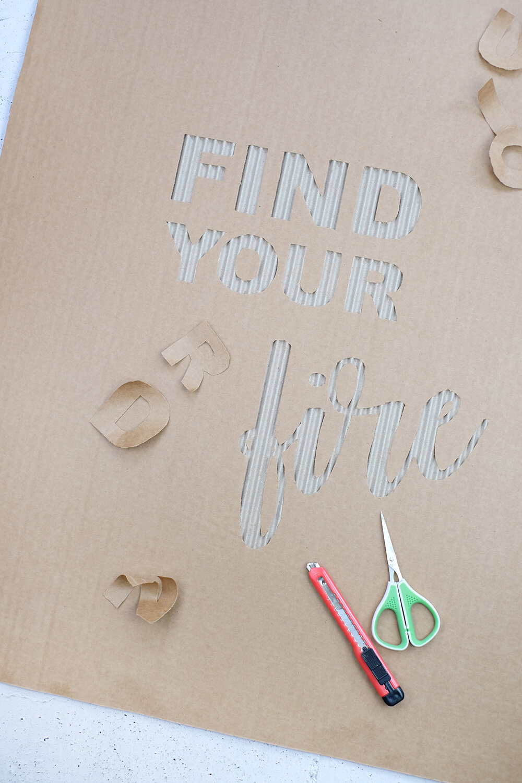 DIY Challenge, wie aus Karton Kunst wird - Gingered Things