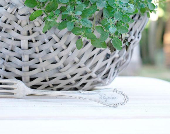 DIY Pflanzstecker aus Gabeln, graviert mit dem Dremel Lite, Gingered Things
