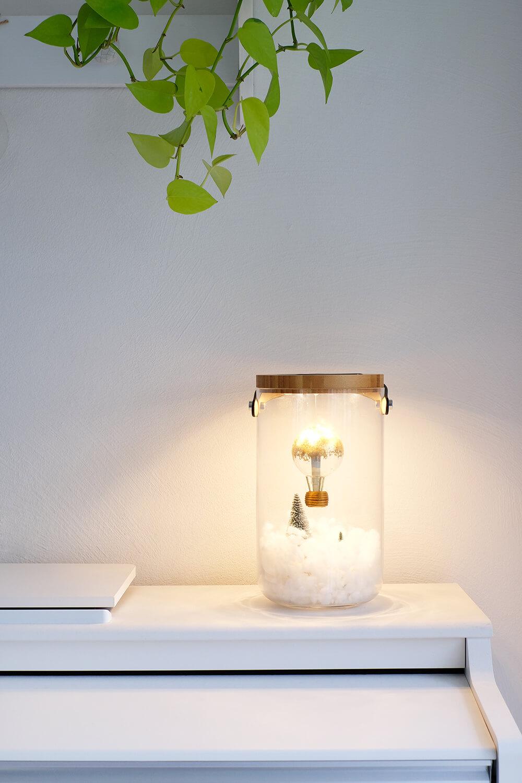 DIYnachten Gutscheine und Geldgeschenke effektvoll im beluchteten Glas verschenken - Gingered Things