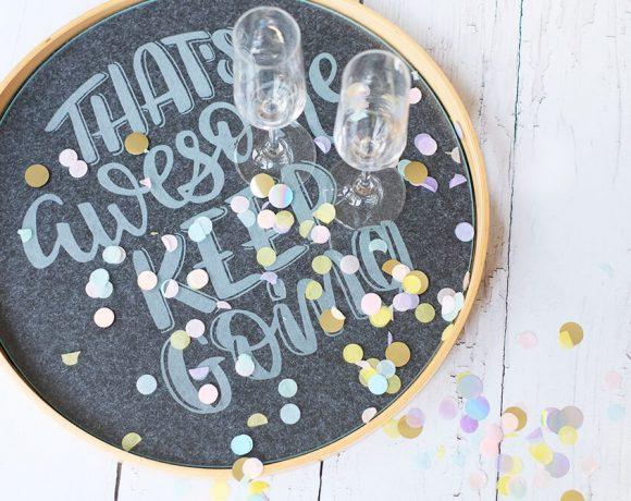 DIY, Glas gravieren mit dem Dremel Lite, Lettering für Silvester, Gingered Things