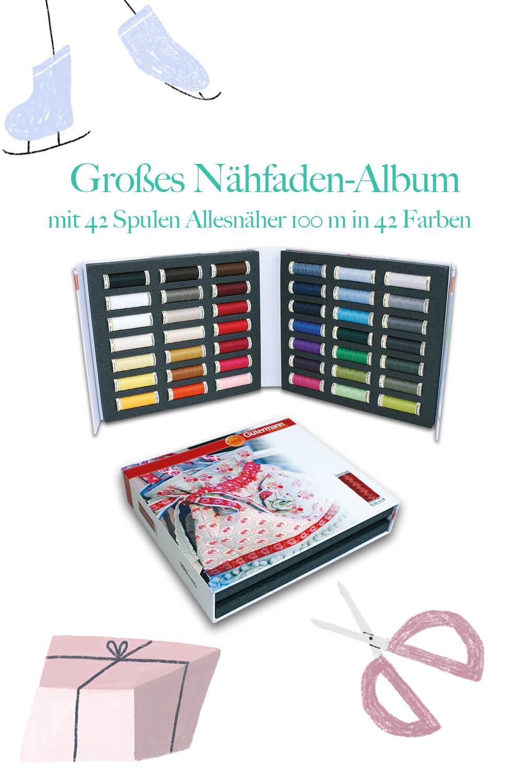 Nähfadenalbum mit Alleskönner von Gütermann creativ