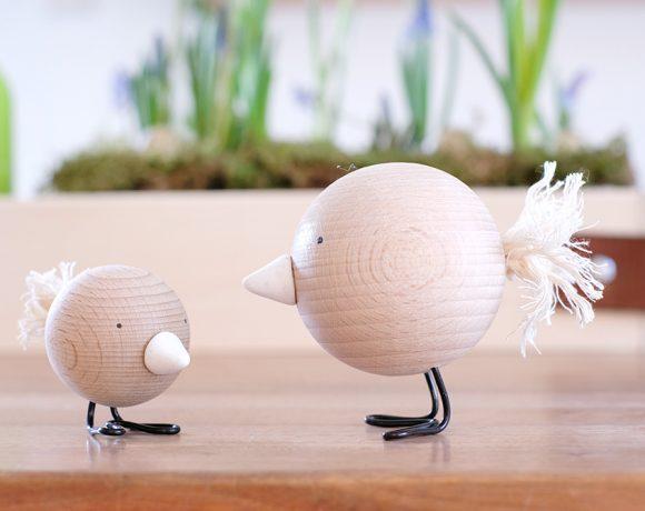 DIY Challenge - Geschenkideen - Frühlingsdeko mit Vöglen aus Holzkugeln