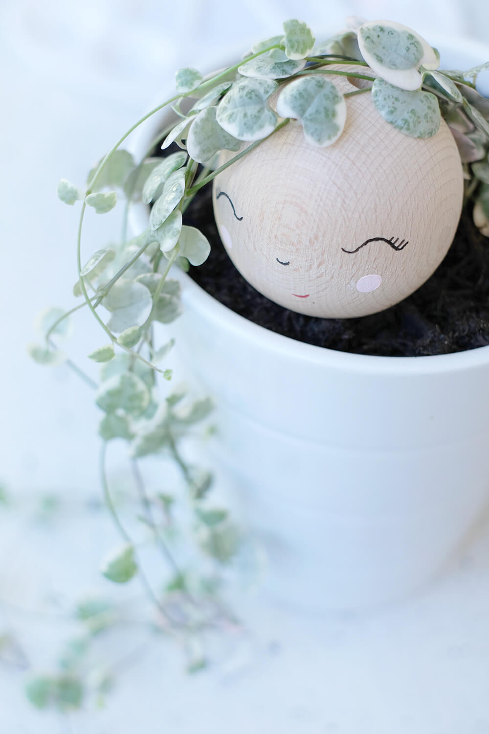 DIY Challenge, Greenery, Rapunzel mit Holzkugel und String of Hearts, Gingered Things