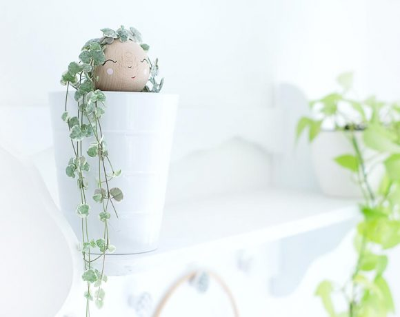 DIY Challenge, Greenery, Rapunzel aus Holuzkugel und String of Hearts - Gingered Things