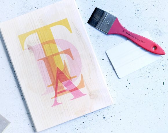 DIY Challenge Mai - Typoliebe - Fototransfer auf Holz - Gingered Things