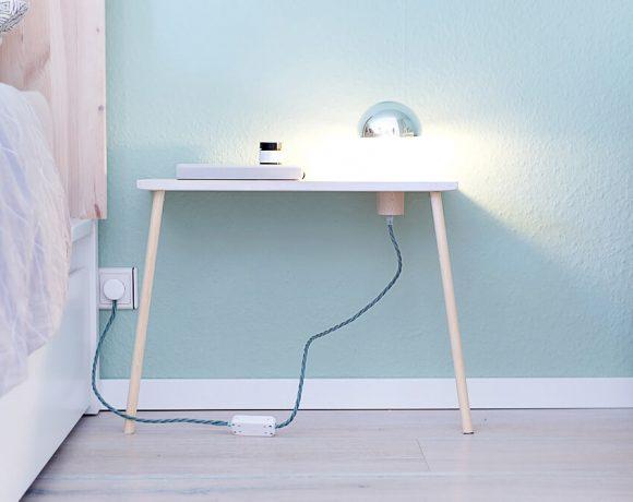 DIY beleuchteter Nachttisch zum Anlehnen - Gingered Things