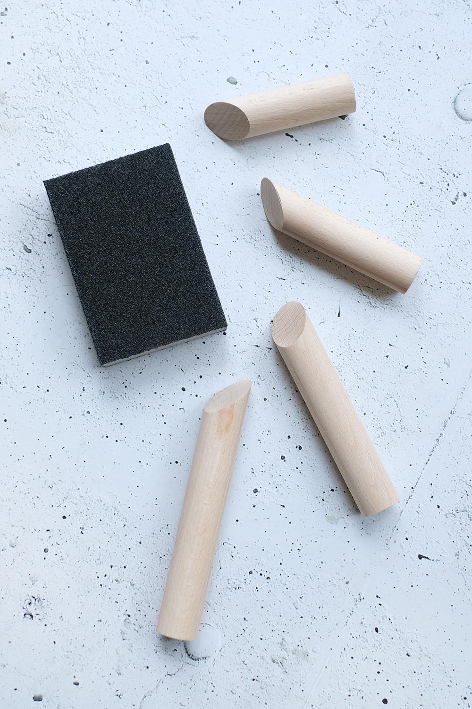 DIYnachten: Magnetische Kerzenständer aus Rundholz mit Gingered Things und Conmetal Meister
