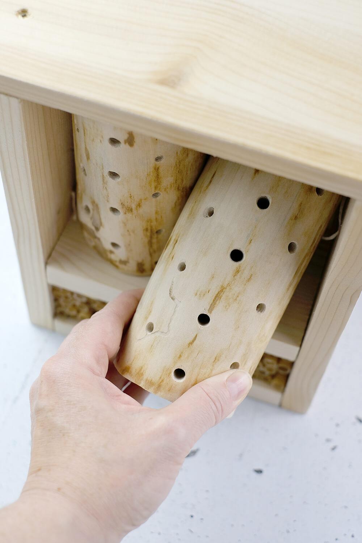 DIY Bienenhotel für Wildbienen - Dremel - Gingered Things